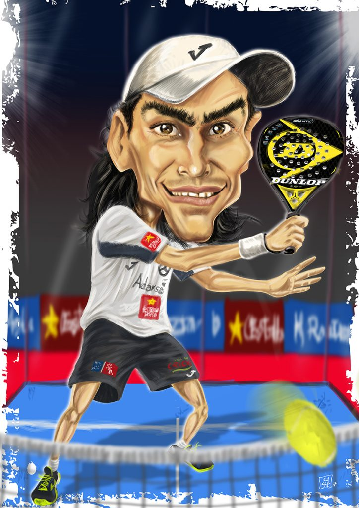 Mieres padel caricature