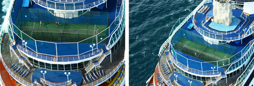 Playing padel on a cruise: possible!