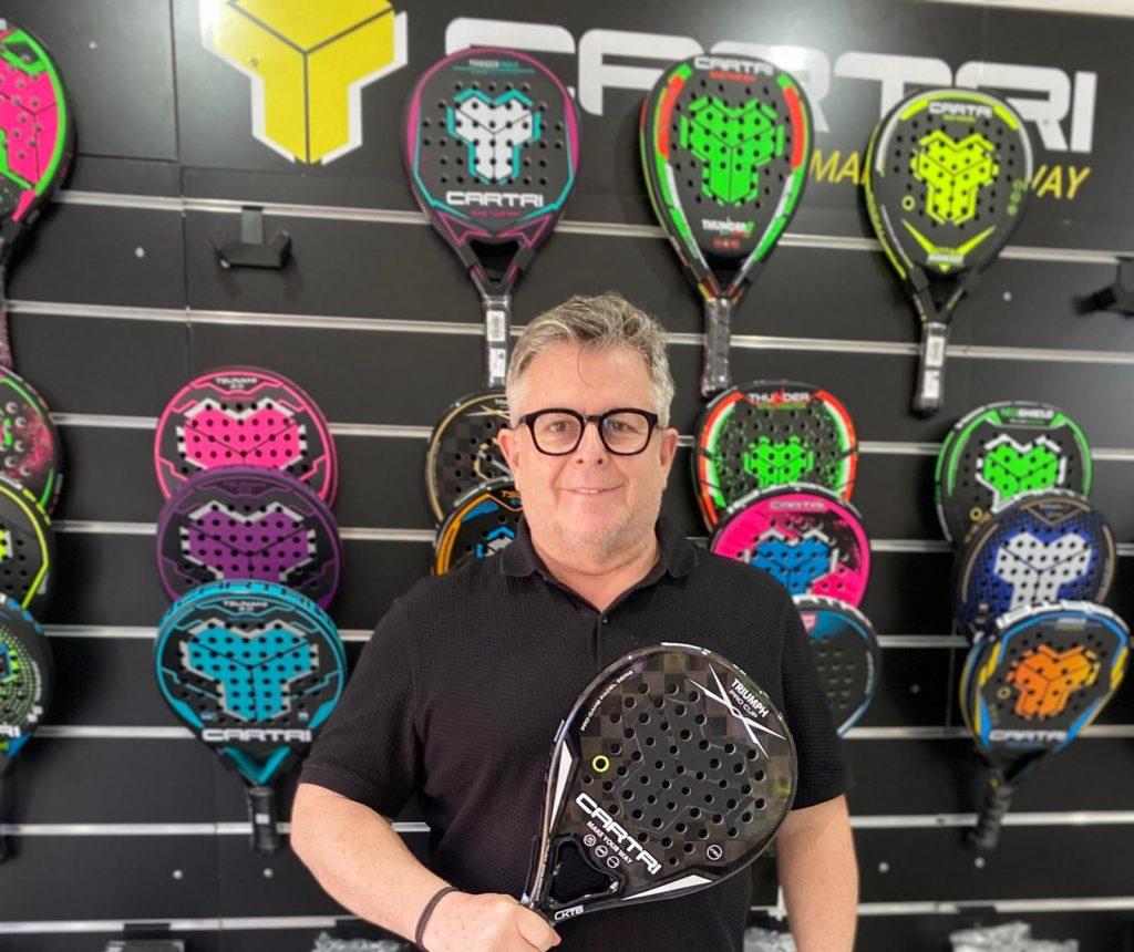 Antonio Martins Cartri raquette de padel