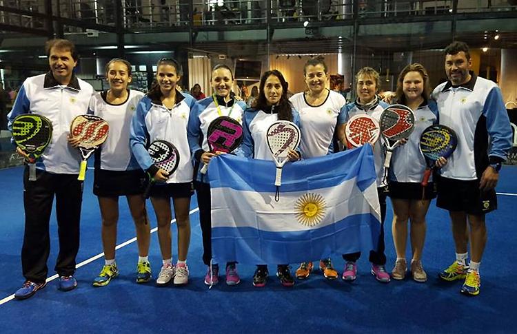 Equipe de padel féminine Argentine drapeau