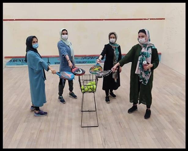 Femmes Padel Khouzistan Iran squash