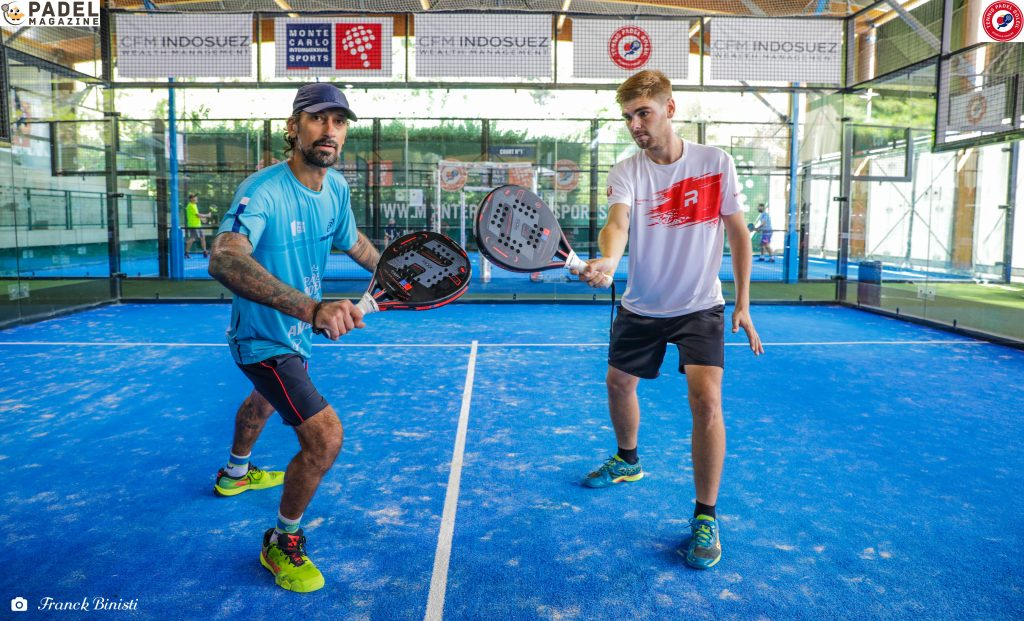 Kevin Farhang et zeus tennis padel soleil professeur terrain semi indoor
