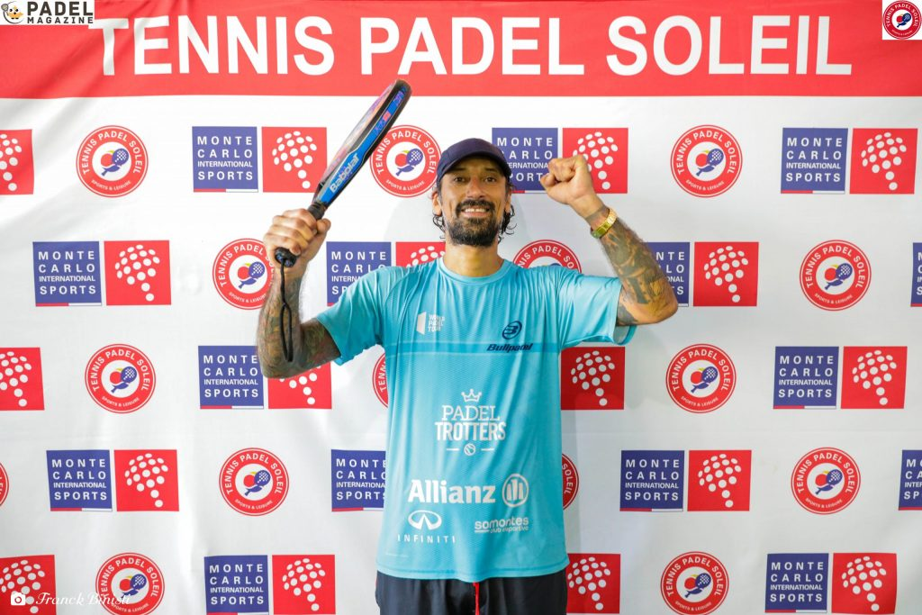 Kevin Farhang tenis padel soleil zwycięstwo radość padel beausoleil