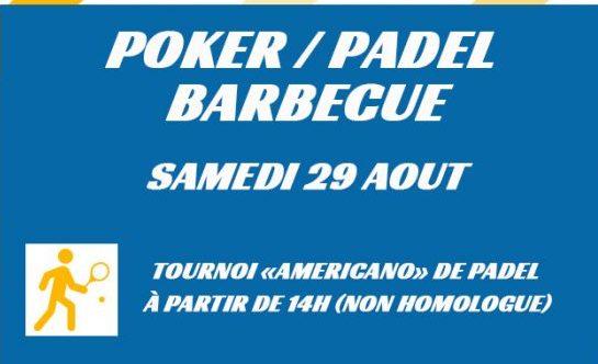 Padel / Poker à Esprit Padel le 29 août