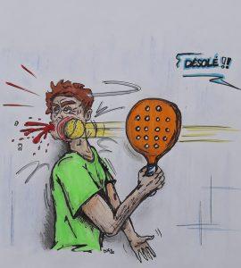 balle figure accident désolé humour dent