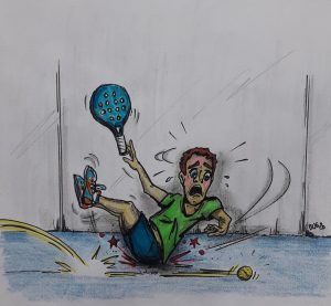 glisser padel humour accident