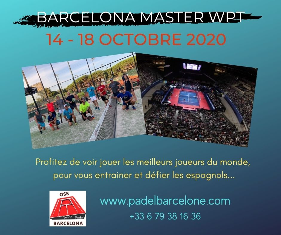 A padel camp during the Barcelona WPT