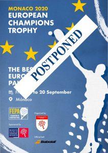 European Champions Trophy reportée