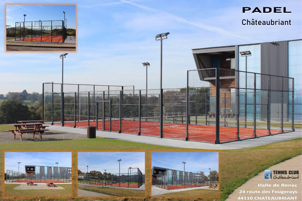 Padel chateaubriand terrain montage