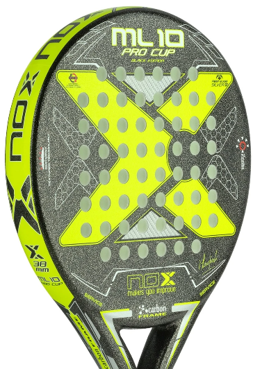 Nox Padel ML 10 Pro Cup Black Edition Arena Rough