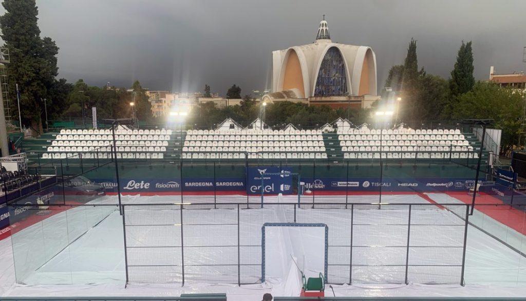 Sardegna breve pioggia coperta World Padel Tour