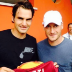 Totti federer padel exhibition challenge