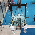 crash test padel field glass