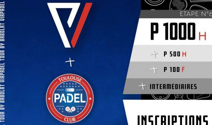 VIA PADEL au Toulouse Padel Club – P100 à P1000 – 7 et 8 novembre