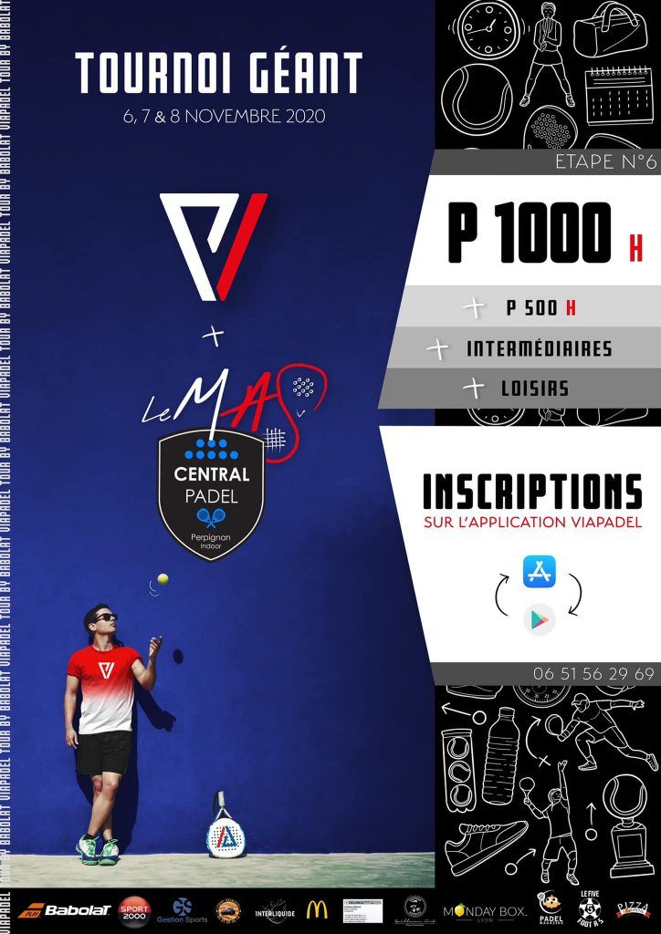 viapadel tournoi geant 2020 affiche