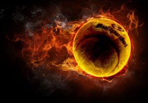 Balle pullpadel en feu