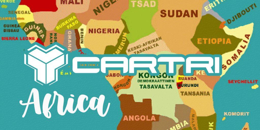Cartri zet voet in Afrika