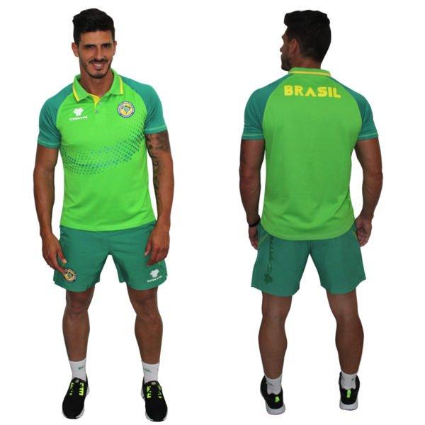 Cartri brésil padel short polo vert