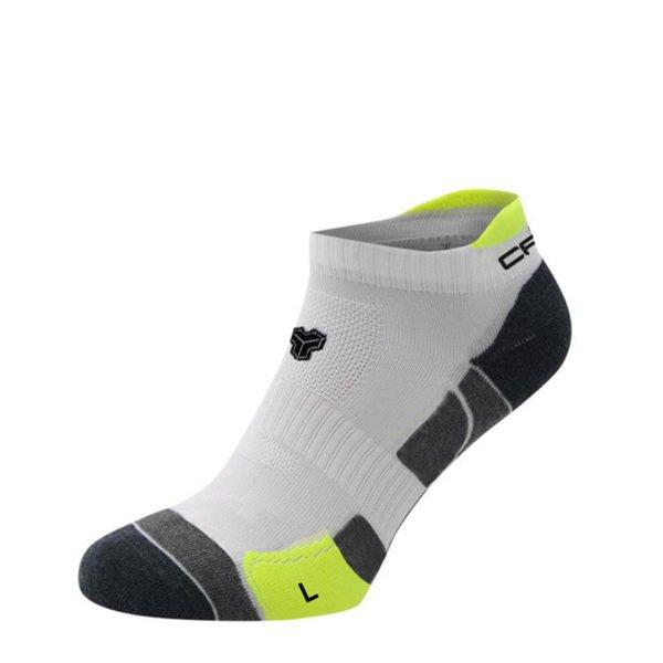 Cartri chaussettes basses soquettes blanc jaune