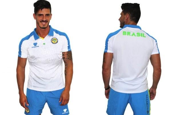 Cartri polo shorts brazil azul blanco
