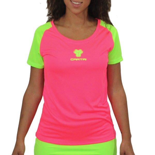 Cartri shirt fille femme rose vert