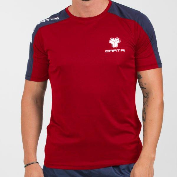 Cartri shirt rouge bleu