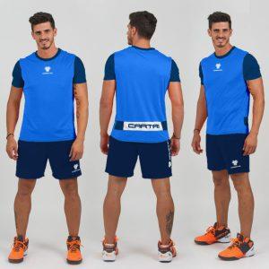 Cartri short tshirt bleu