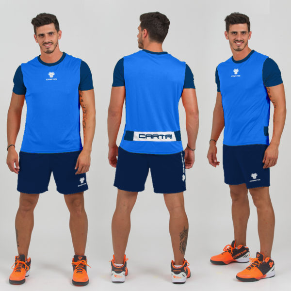 Shorts camiseta azul Cartri