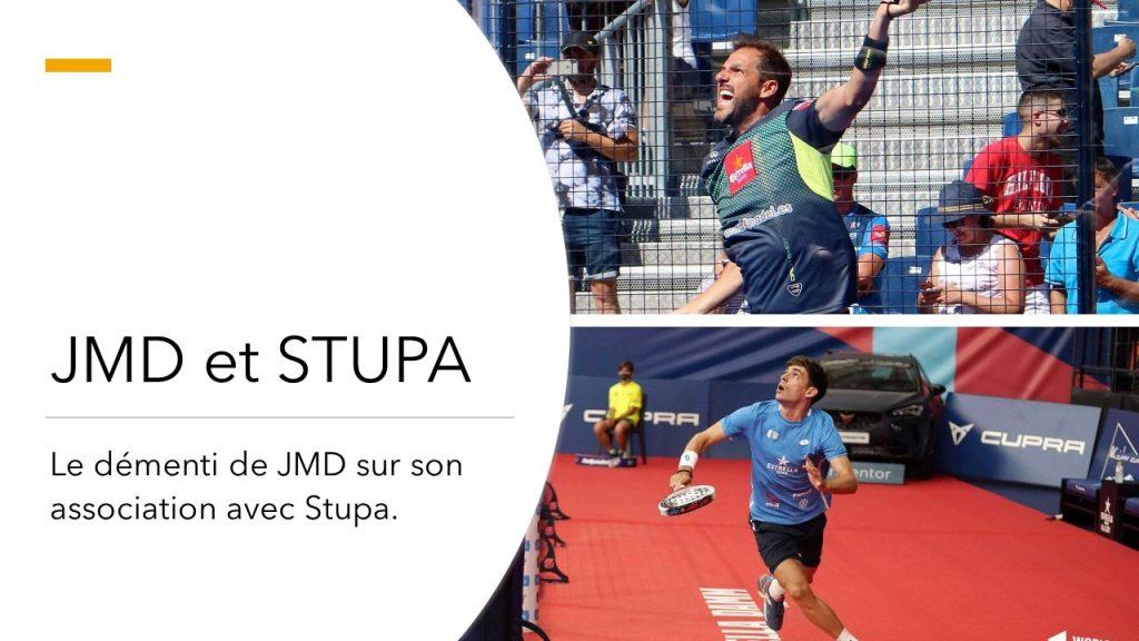 JMD et Stupa ne joueront pas ensemble en 2021
