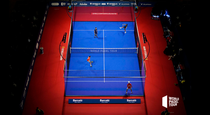 World Padel Tour panorama-semifinal Barcelona mästare
