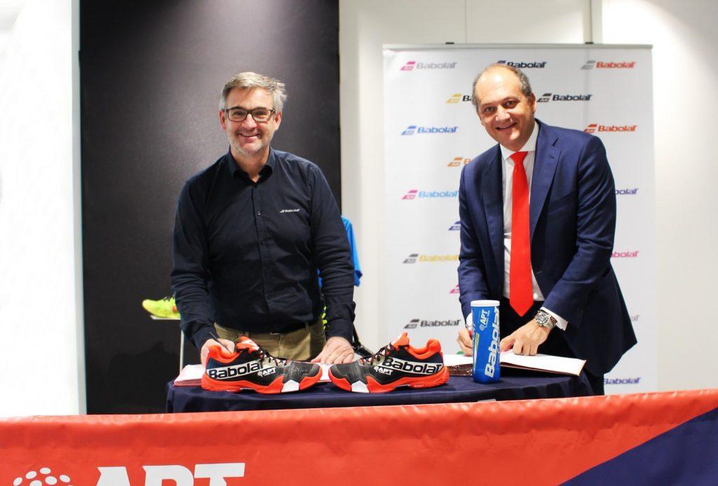 BABOLAT, Balle et chaussure officielles de l'apt padel tour 2021