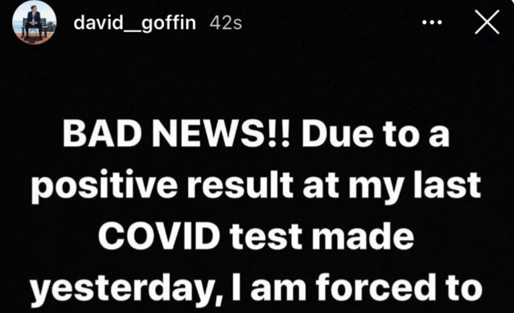 David Goffin, positif au COVID-19