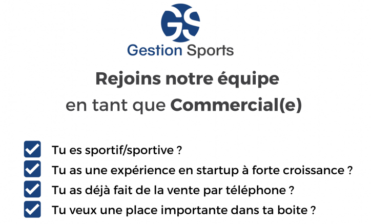 The GESTION SPORTS software is recruiting!
