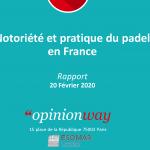 notoriedade e prática do padel 2020 fft