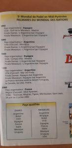palmares nations 2000 mondial padel france midi pyrénées