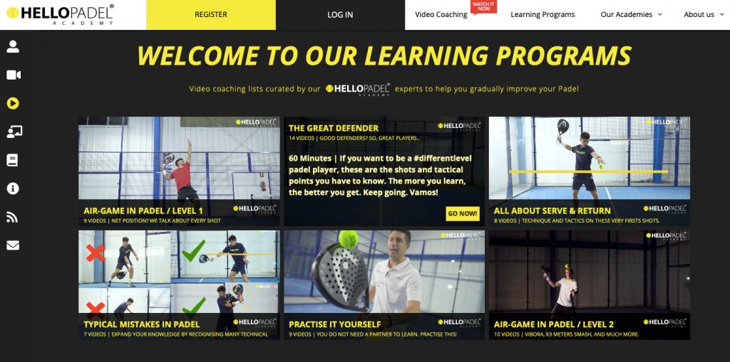 Hello Padel : The online padel academy