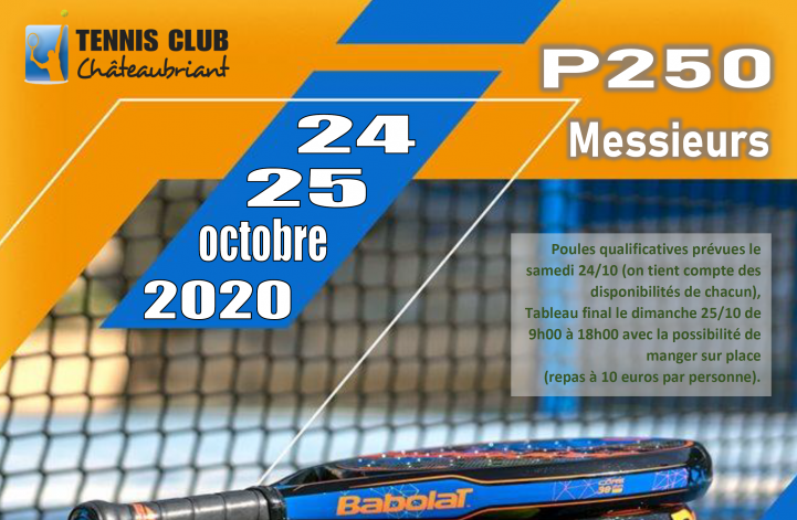 Open TC Chateaubriant – P250 – 24 / 25 octobre 2020