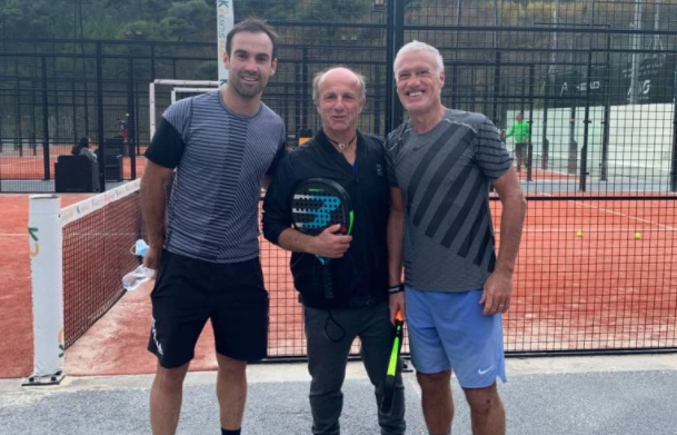 Morgan Parra et Didier Deschamps au TC Eze