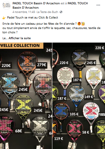Padel Touch click and collect