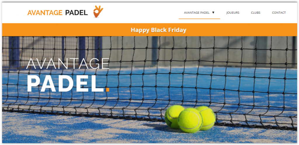 Le Black Friday de folie d´Avantage-padel