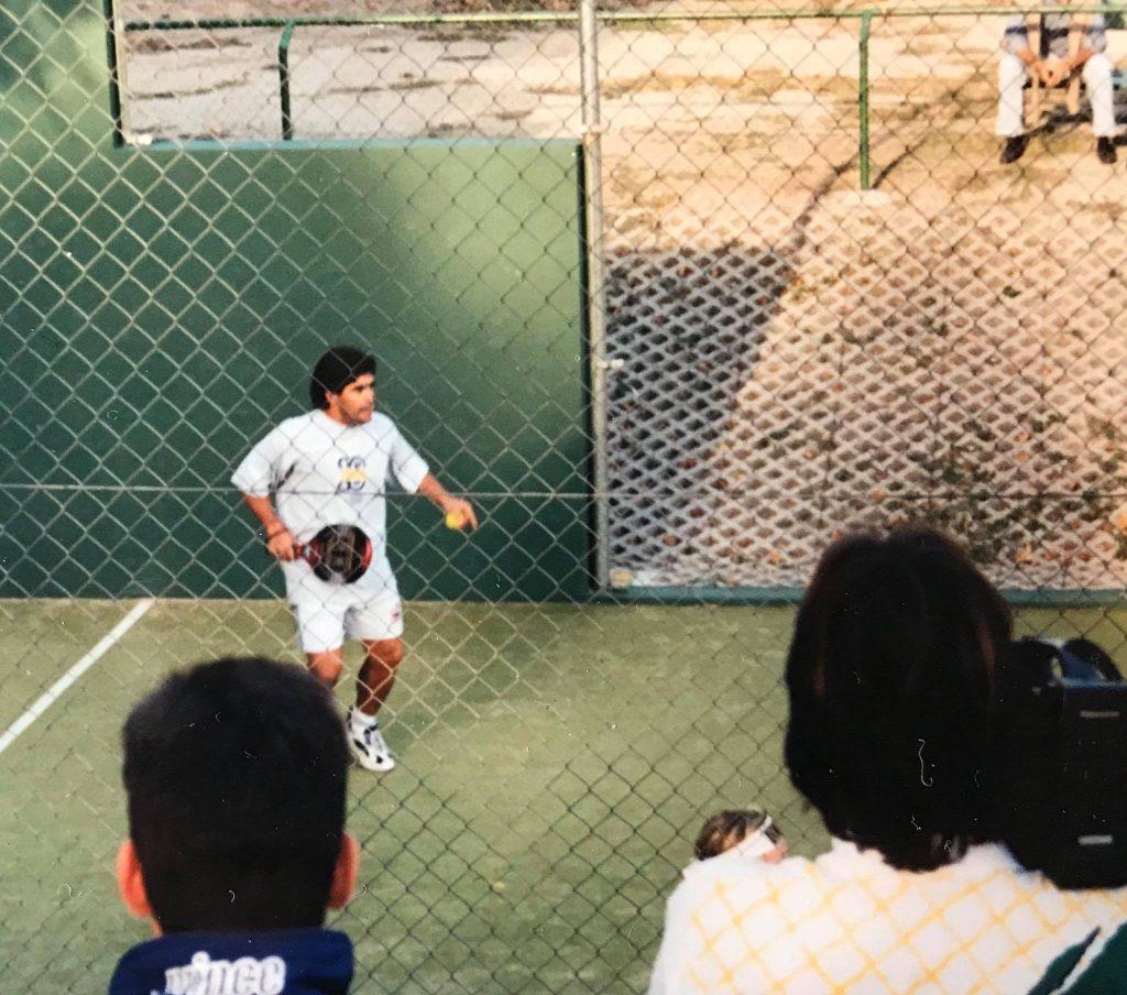 Diego Maradona padel Weltmeisterschaft 1996