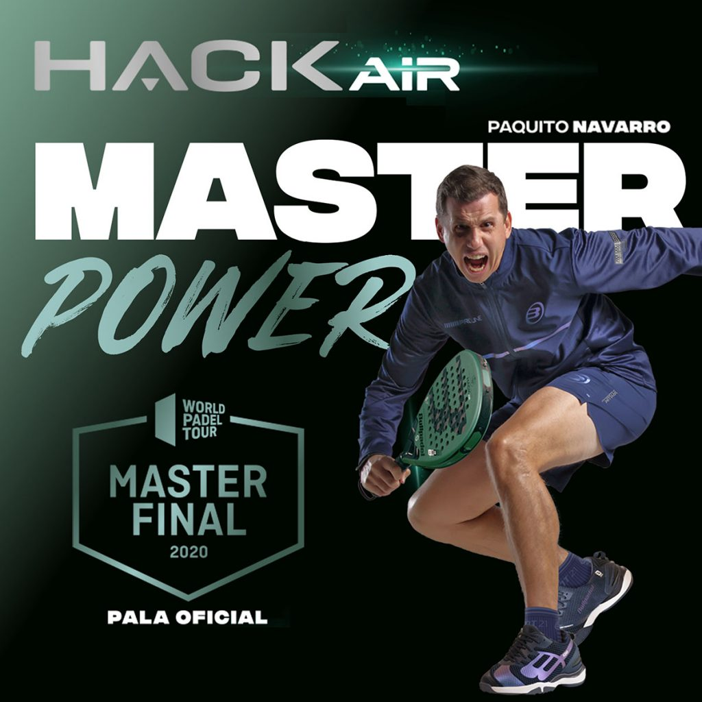 Bullpadel Hack Air, pala officielle du Master Final