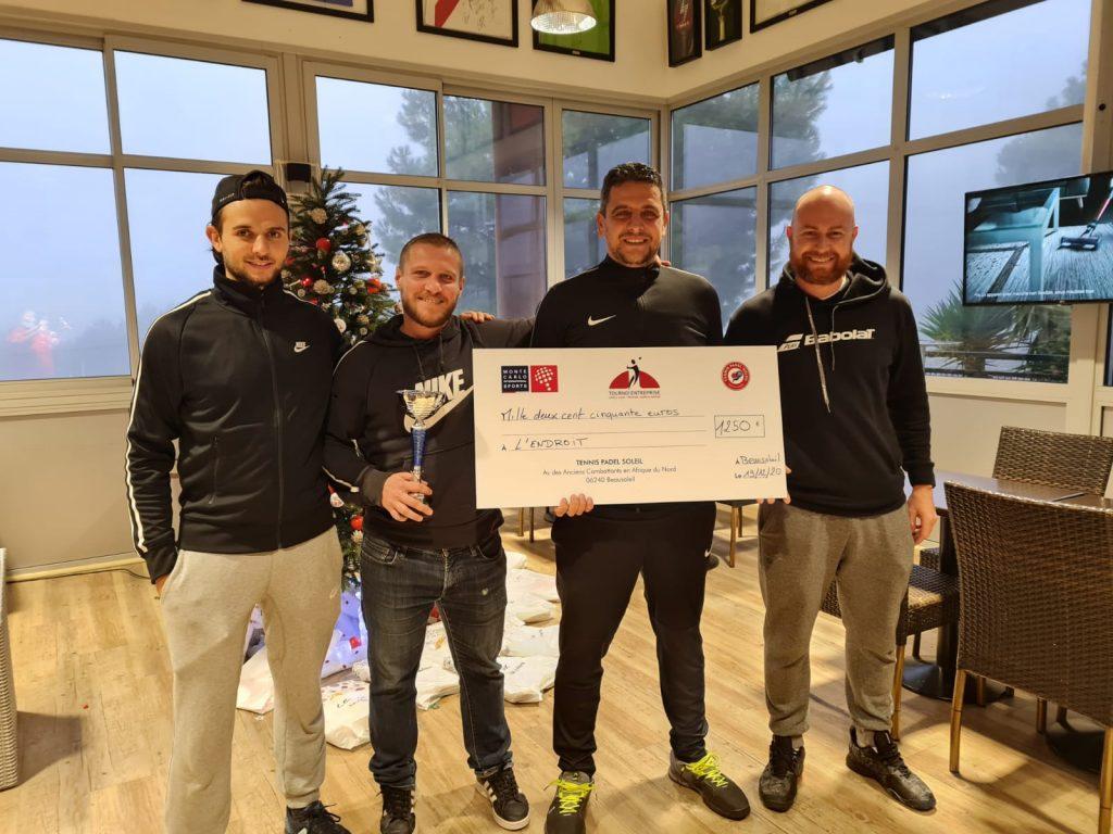 Framgång för 2020-tävlingen mellan företag på Tennis Padel sol