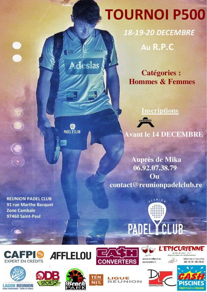 Réunoin Padel Club P500 tournois de padel