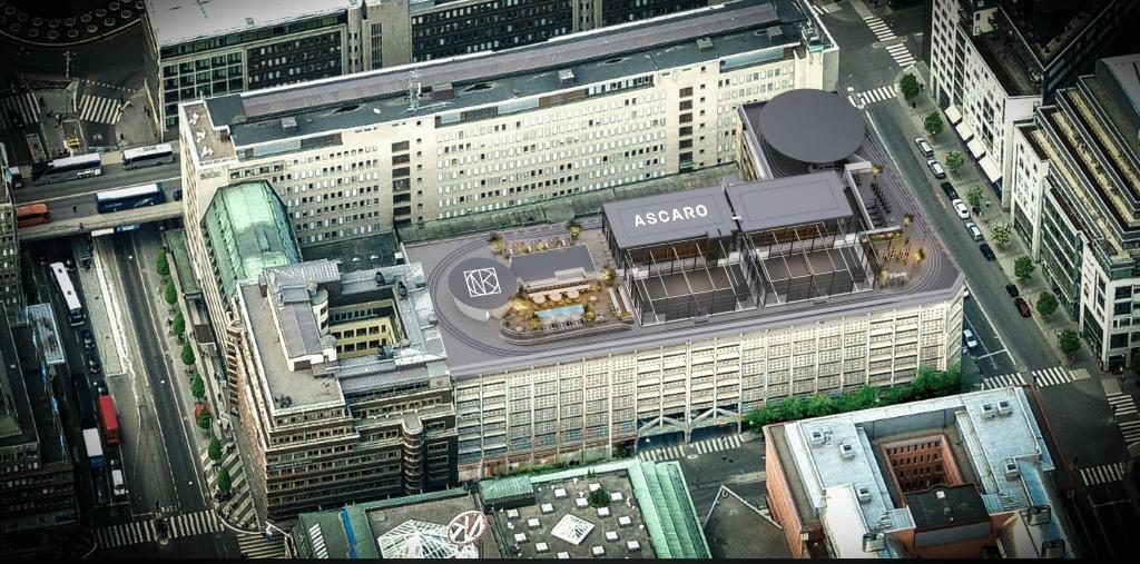 Rooftop padel sweden Ascaro