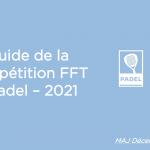 guide de la compétition 2021 padel FFT