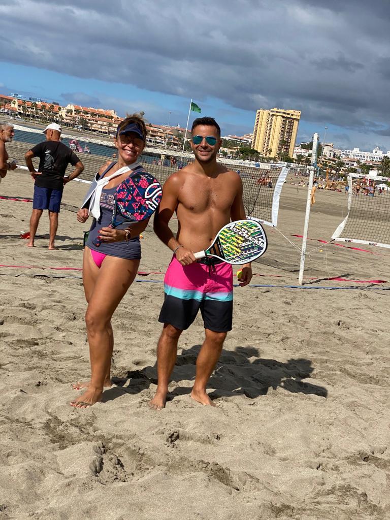 nicolas binisti beach tennis Karina Funegra