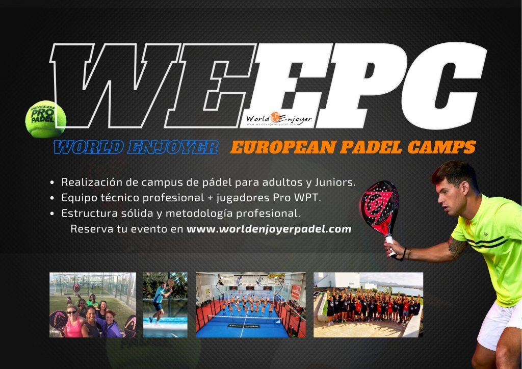 Dunlop propose des stages padel avec WEEPC