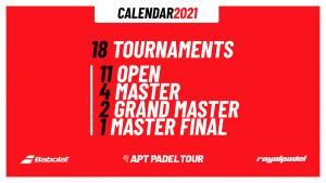 APT PADEL TOUR calendrier 2021