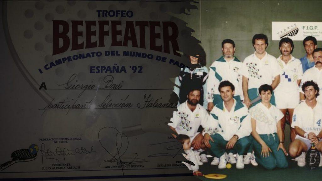 Printemps 1991 : l'Argentine débarque le padel en Italie